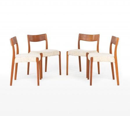 Set of 4 EMC Møbler dining chairs, 1960s