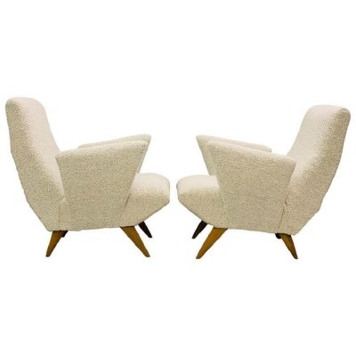 Pair of Armchairs by Nino Zoncada for Framar, Italy 1950s