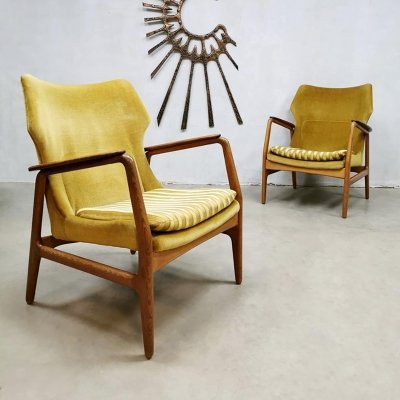 Set of 2 vintage wingback chairs by Aksel Bender Madsen for Bovenkamp, 1950s