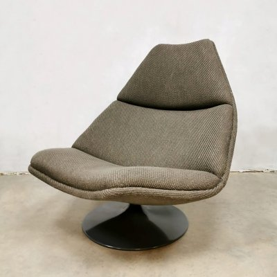 Vintage F588 swivel chair by Geoffrey Harcourt for Artifort, 1970s