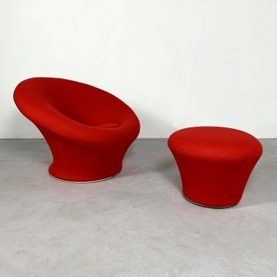 Mushroom Lounge Chair plus Ottoman by Pierre Paulin for Artifort, 1960s