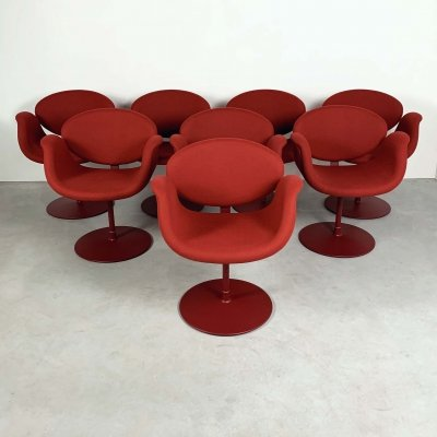 Red Tulip Chairs by Pierre Paulin for Artifort, 1970s