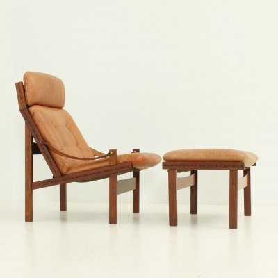 Hunter Lounge Chair & Ottoman by Torbjørn Afdal for Bruksbo Norway