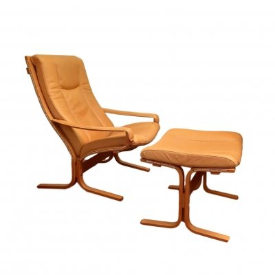 Siesta Lounge Chair + Ottoman by Ingmar Relling for Westnofa