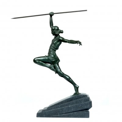 Art Deco Bronze Femme by Pierre le Faguays for Le Verrier, c1930