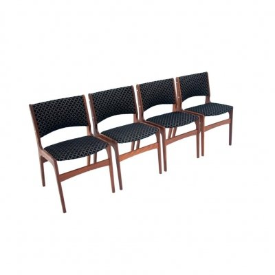 Set of 4 teak dining chairs by Johannes Andersen, 1960s