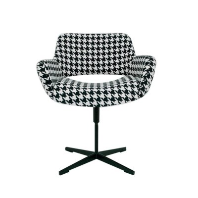 Vintage black & white office chair, 1960s