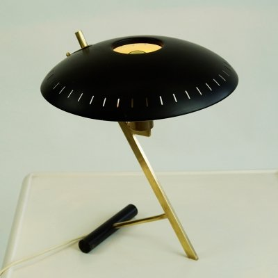 Midcentury Brass Table Lamp Z by Louis Kalff for Philips