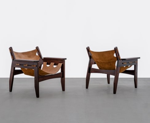 Pair of Brazilian Mid-Century Modern Lounge chairs by Sergio Rodrigues