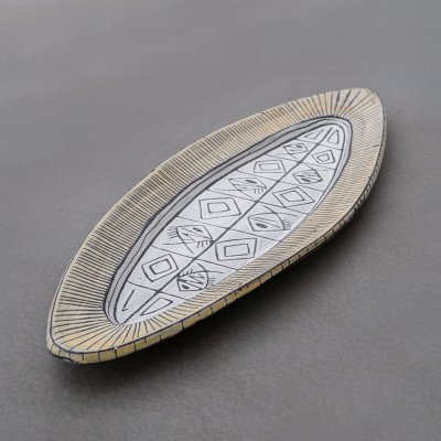 XL Pouchain ceramic plate, France 1950s