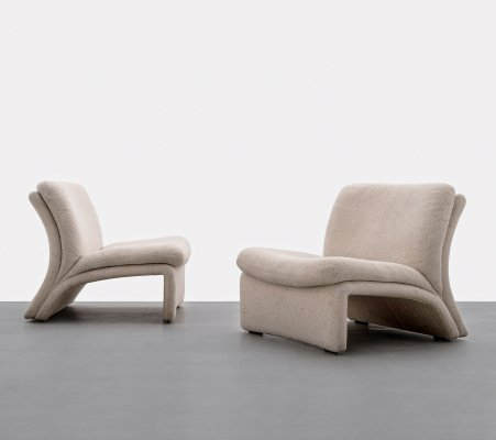 Pair of sculptural Lounge chairs, Italy 1970