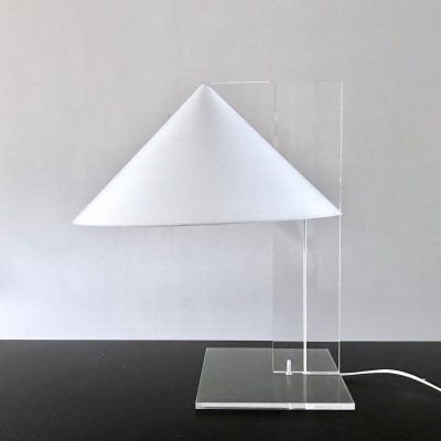 Acryl Cone Desk lamp by Harco Loor, 1970s