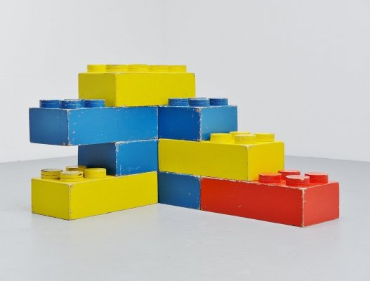 Large decorative Lego cubes, Holland 1960