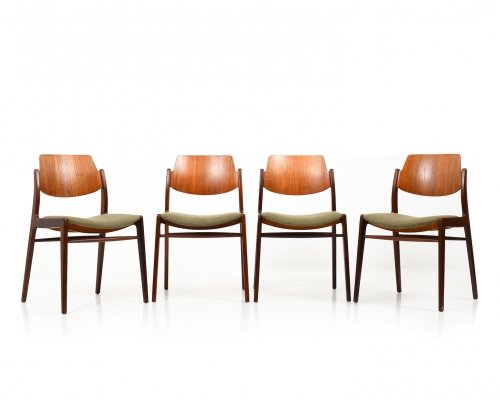 Set of 4 Mid Century Dining Chairs in Teak