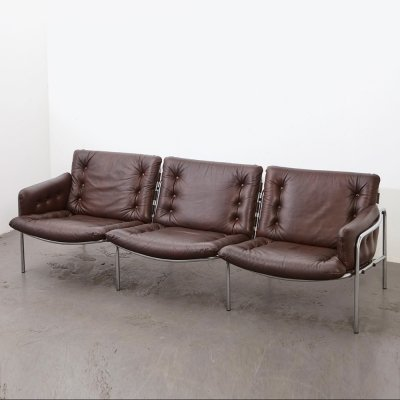 Martin Visser BZ12 Leather Sofa Osaka 3 for 't Spectrum, 1969