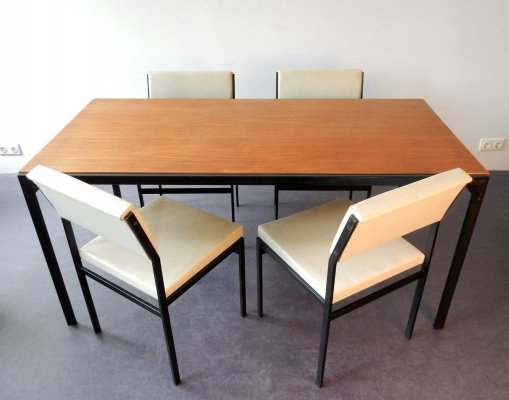 Cees Braakman for Pastoe 'Japanese series' dining table with 4 chairs