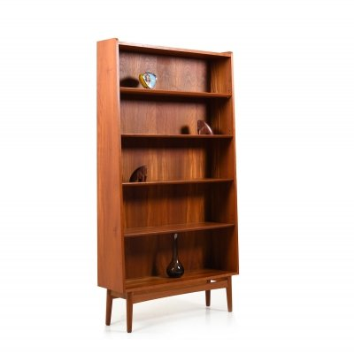 Mid Century Danish Conical Bookshelf / Bookcase in Teak by Johannes Sorth
