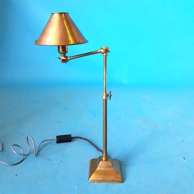 Brass adjustable desk lamp, 1970s