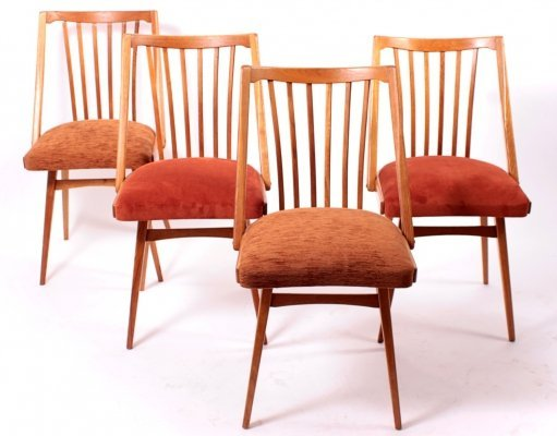 Set of 4 Vintage Dining Chairs by Antonin Šuman