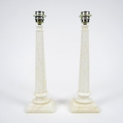 Set of 2 marble lamps, 1950s
