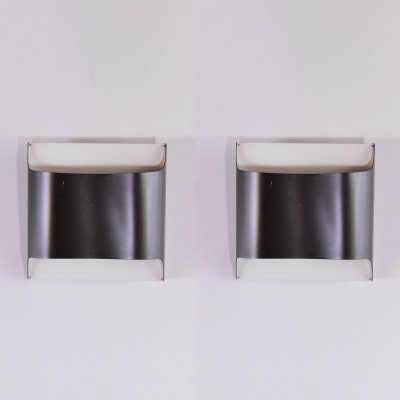 Pair of Staff wall lamps in metal designed by Rolf Krüger & Dieter Witte
