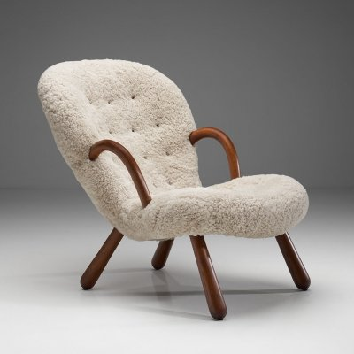 'Clam' Chair by Arnold Madsen for Madsen & Schubell, Denmark 1944