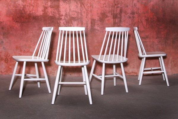 Set of 4 Vintage Dining Chairs by Yngve Ekstrom for Nesto, Sweden 1960s