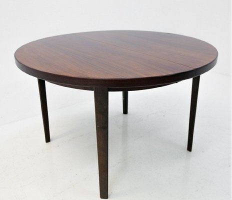 Round Danish Design Folding Dining Table in Rosewood
