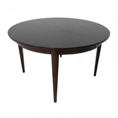 Round Danish Design Dining Room Table in rosewood, 1960s