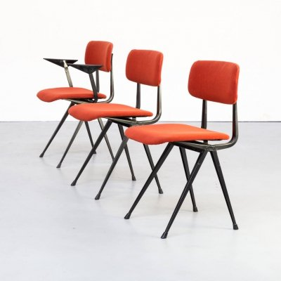 Set of 3 Friso Kramer 'Result' chairs for Ahrend de Cirkel, 1950s