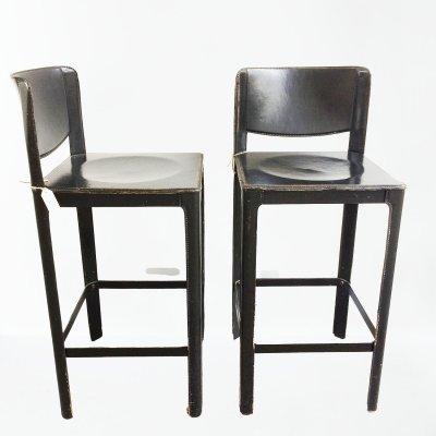 Pair of stools by Tito Agnoli for Matteo Grassi, 1980s