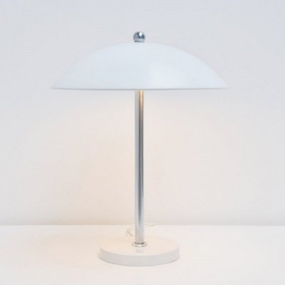 Wim Rietveld for Gispen mushroom table lamp in white, 1950s