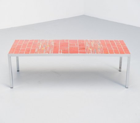 Rogier Vandeweghe Amphora ceramic tiles table, Belgium 1960