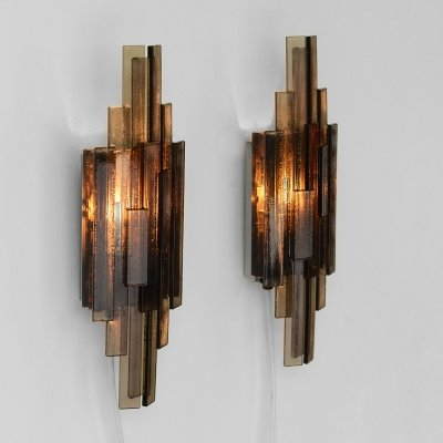 Pair of wall lights/sconces 1006 by Claus Bolby for CeBo industri, Denmark 1960s