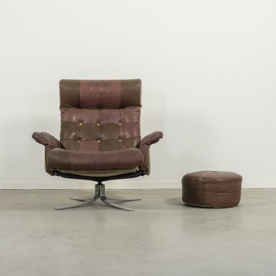 Søren Nissen & Ebbe Gehl lounge chair 'Atlantis' with pouf