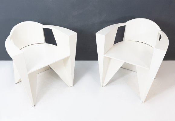 2 x Spa Matrix arm chair by Adriano Suman & Paolo Suman for Giorgetti, 1980s