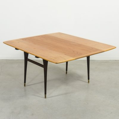 Scandinavian Modern extendable coffee table-dining table, 1960's
