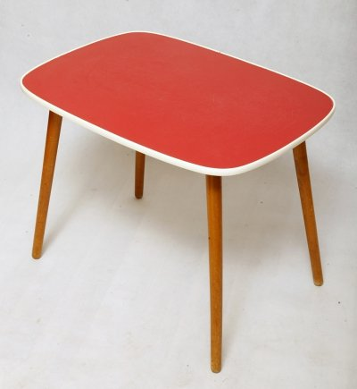 Mid century coffee table with red top, Germany 1960s