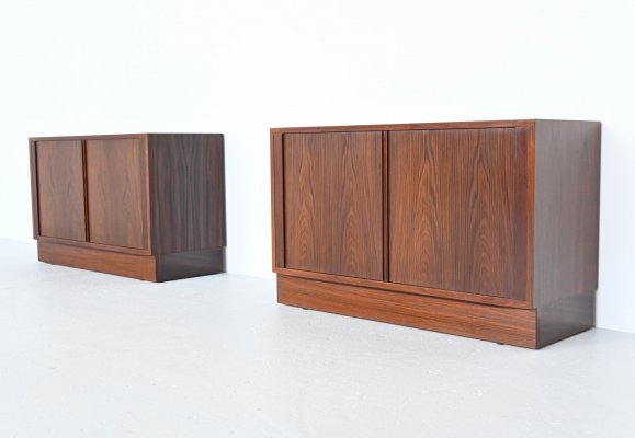 Carlo Jensen for Hundevad & Co Tambour cabinets, Denmark 1960
