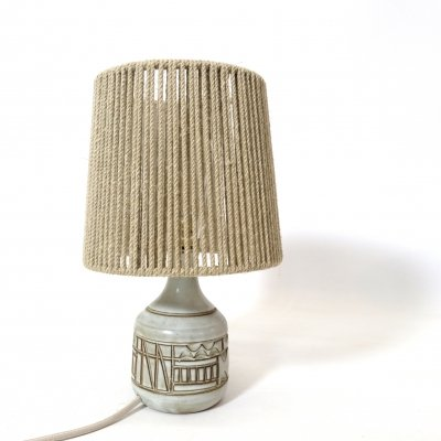 Little earthenware table lamp by Marius Bessone, 1950-1960