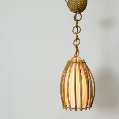 French bamboo pendant from the sixties