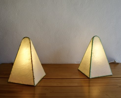 Pair of Fritz Wauer for Goldkant Leuchten Table Lamps, 1960s