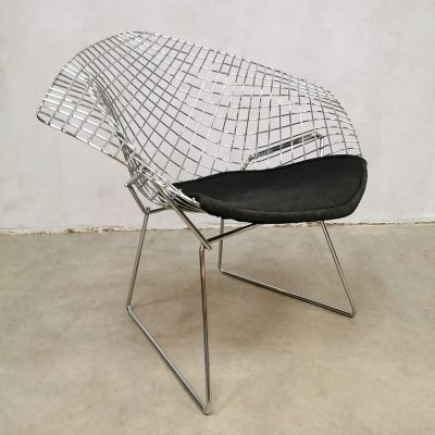 Vintage Diamond wire chair by Harry Bertoia for Knoll, 1980s