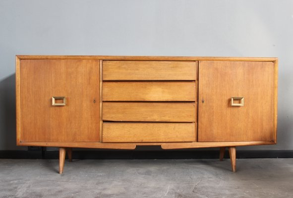 Italian Midcentury sideboard with brass details, 1960s