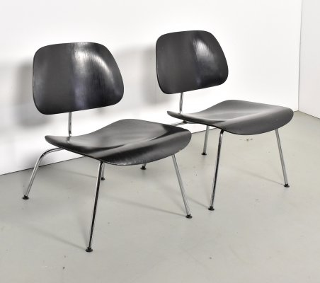 Pair of LCM lounge chairs by Charles & Ray Eames for Herman Miller, 1960s
