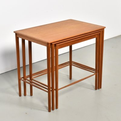Nesting table by Grete Jalk for P. Jeppesen Møbelfabrik, 1960s