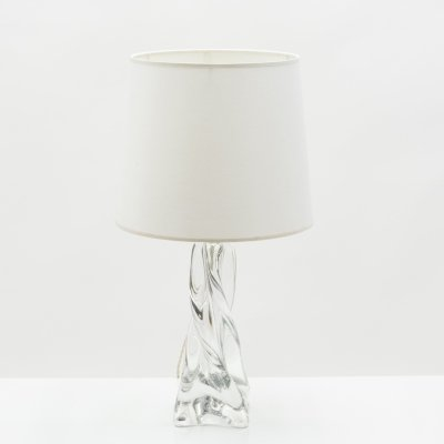 Jean Daum French crystal table lamp, 1960s