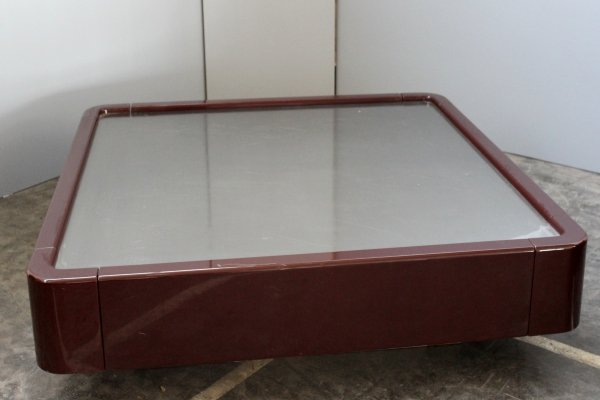 Vico Magistretti Bordò Gavina Caori big coffee table with record storage