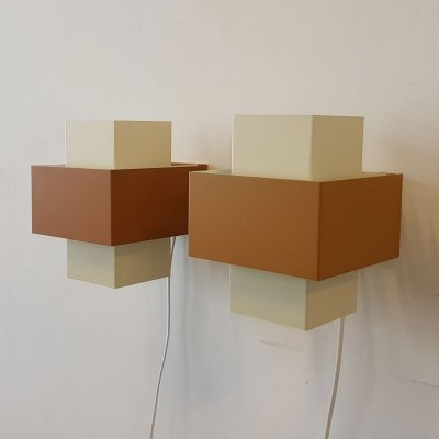 Set of 2 wall lamps by Philips Netherlands, 1960s