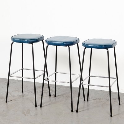 Hein Salomonson set of 3 Bar Stools for AP Originals, 1960s